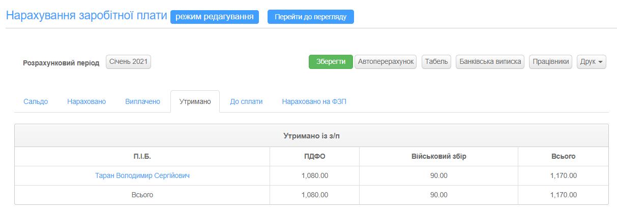 розрахунок зарплати в СМАРТФІН.UA